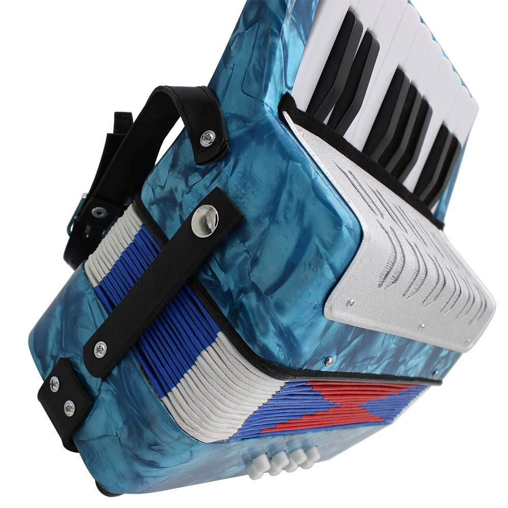Accordion Portable Lightweight Kids Piano Accordion 17 Keys 8 Bass with Adjustable Straps Music Instruments for Beginners Students Educational Instrument Band Toys Children's Gift by Ybriefbag-Musical Instruments (Image #2)