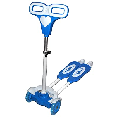 Four Wheel Scooter for kids Blue frog motion back wheels with light new model: Clothing