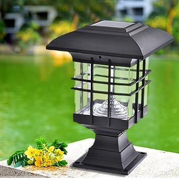 Solar Pillar Light Waterproof Landscape LED Post Lamp For Outdoor Garden  Park Patio Gate Decor