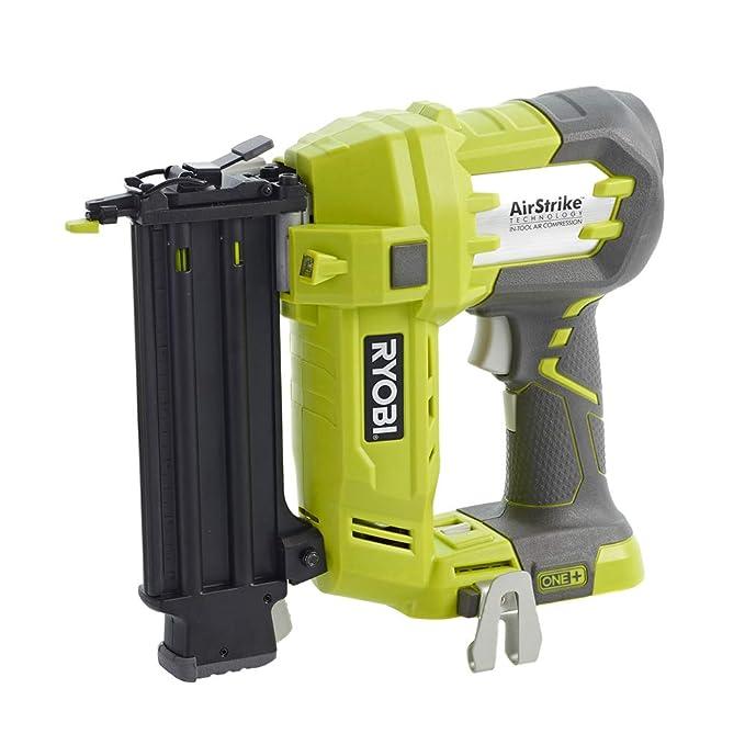 Ryobi R18N18G-0 - Clavadora de alta presión (18 voltios) + Ryobi 5133002638 - Rc18150 cargador 18v 5 ah: Amazon.es: Bricolaje y herramientas
