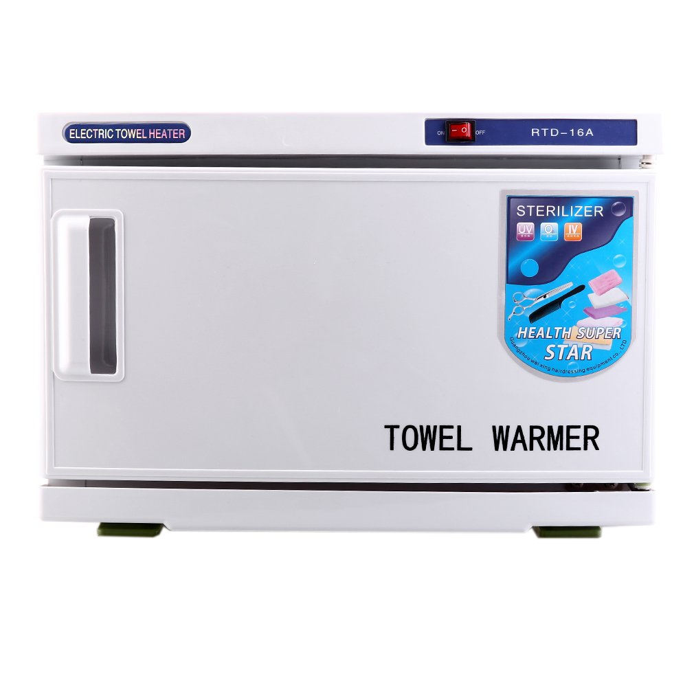 UV Sterilizer 2 in 1 Hot Towel Warmer Cabinet Spa Hair Beauty Salon Equipment Scissor Health Hot Towel Cabinet 16L/4.22 Gal