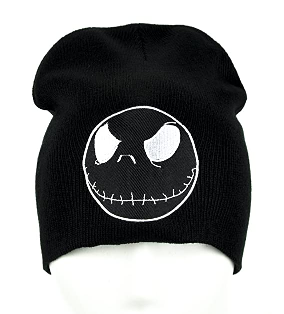 1e41f198b6337 Image Unavailable. Image not available for. Color  Jack Skellington  Negative Face Beanie Clothing Knit Cap Nightmare Before Christmas