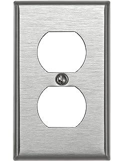 leviton 1gang duplex device receptacle wallplate standard size device mount