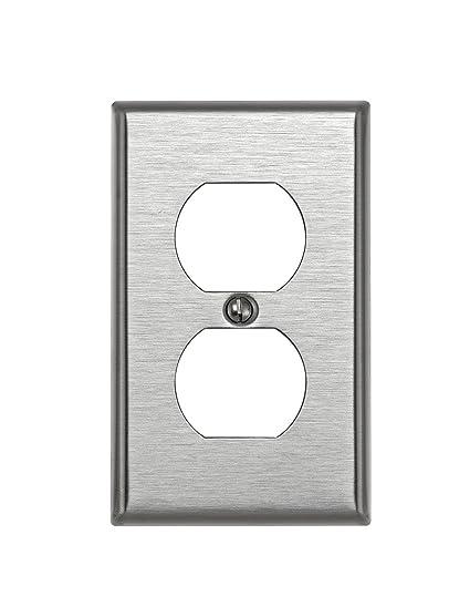 Leviton 84003 1 Gang Duplex Device Receptacle Wallplate Standard