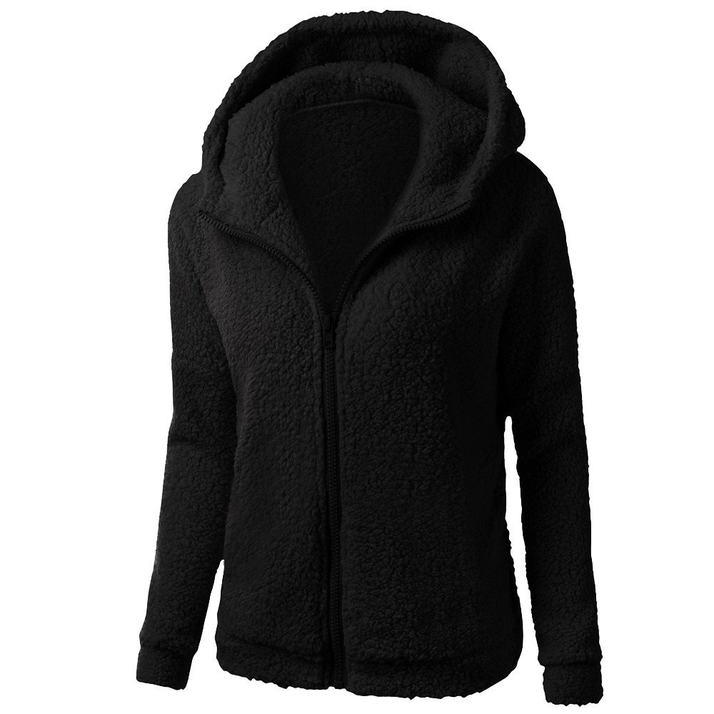 POTO Women Coats OUTERWEAR レディース B07HNXBVY5 Large|ブラックB ブラックB Large