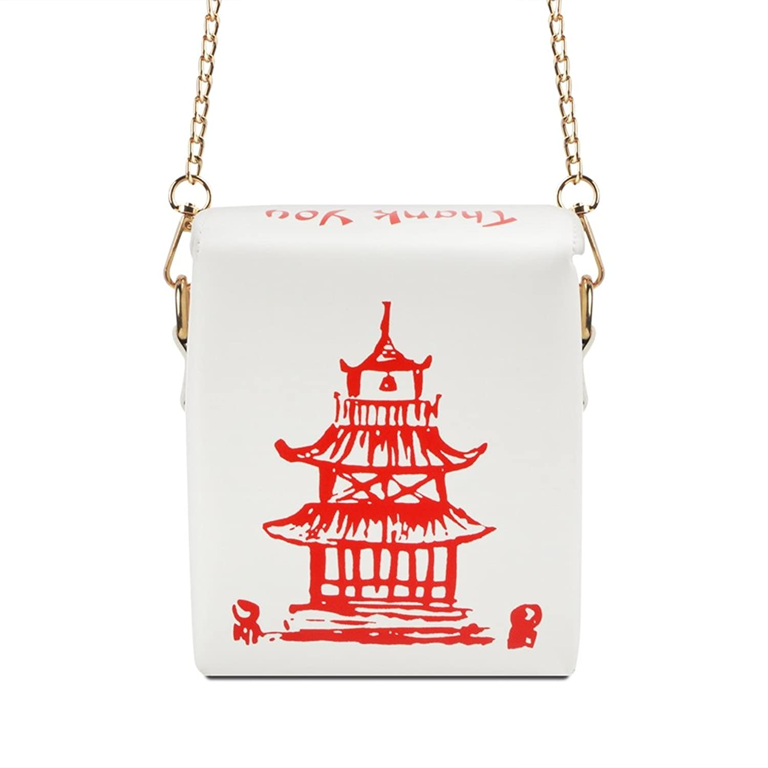 Fashion Crossbody Bag, Ustyle Chinese Takeout Box Style Clutch Bag For Girl by U Style
