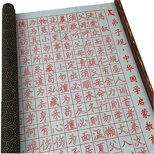 Gridded Magic Cloth Chinese Character, Di zi Gui Water Writing Cloth, Small Regular Script Copybook, Chinese Character Copybook.free 1pc Yipin Ziyang Brush