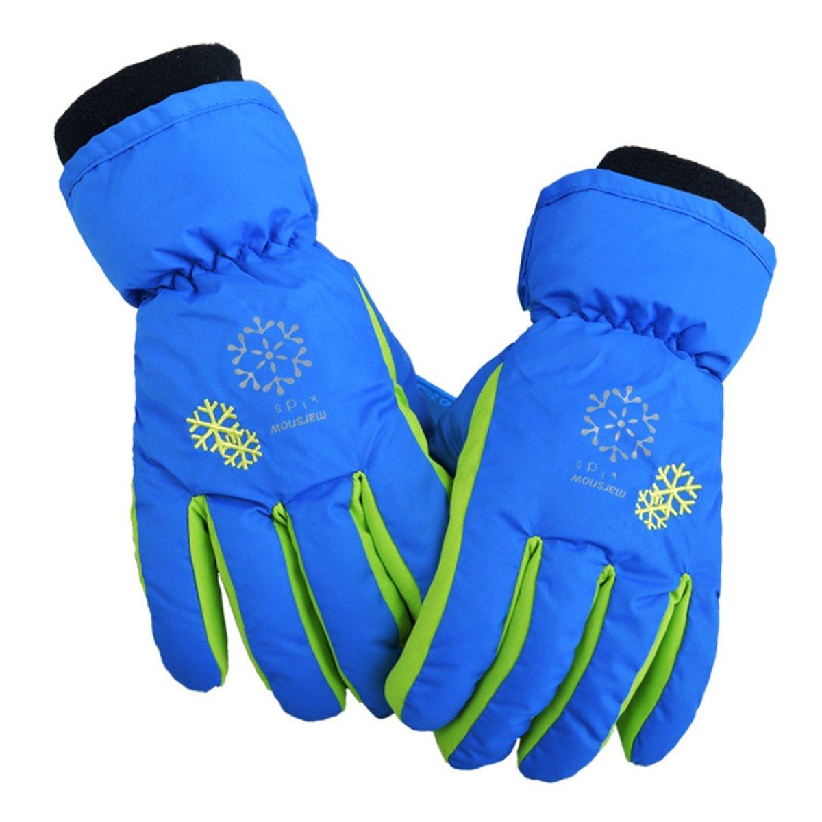 Ski Gloves Waterproof Warm Snowboard Gloves Winter Kid Skiing Gloves