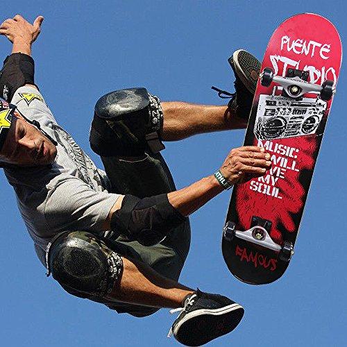 Standard Skateboard,Maple Wood Complete Skateboard 31' for Pro and Beginner Music Pattern