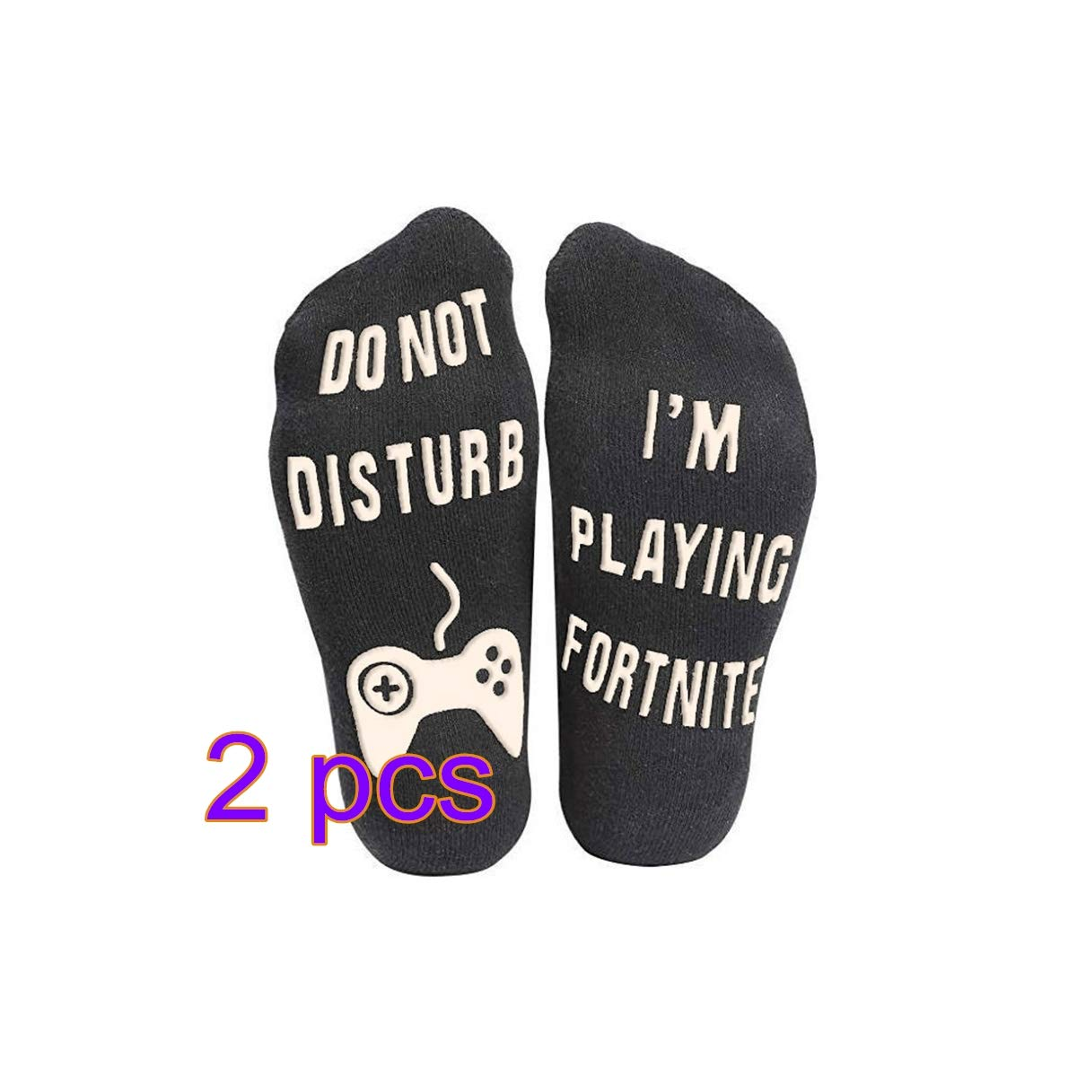 Do Not Disturb, I' m Playing 2 Pairs Ankle Sock Novelty Stocking for Men Kids Boys Great Gift for Game Lovers Keebgyy