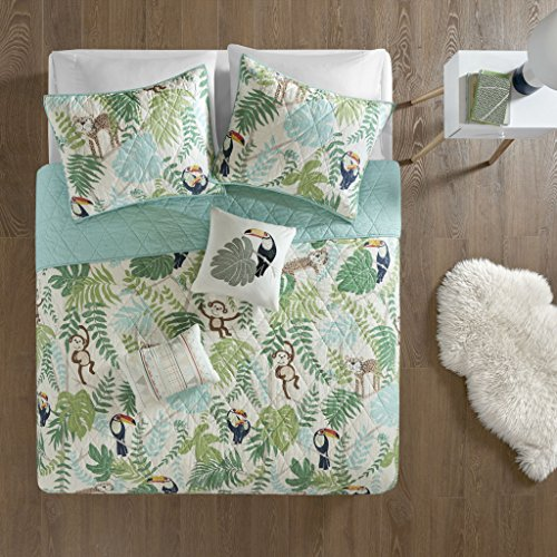 tropical tangle cotton printed coverlet