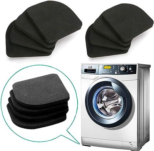 QISF 8 piezas EVA antivibración, protector de lavadora, absorción ...