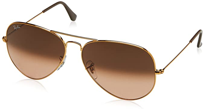 RAY-BAN Aviator Large Metal II Gafas de sol, Shiny Light Bronze, 62 para Hombre
