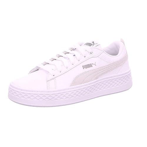 Puma Smash Platform L wit sneakers dames  Amazon.co.uk  Shoes   Bags 44d33d81f