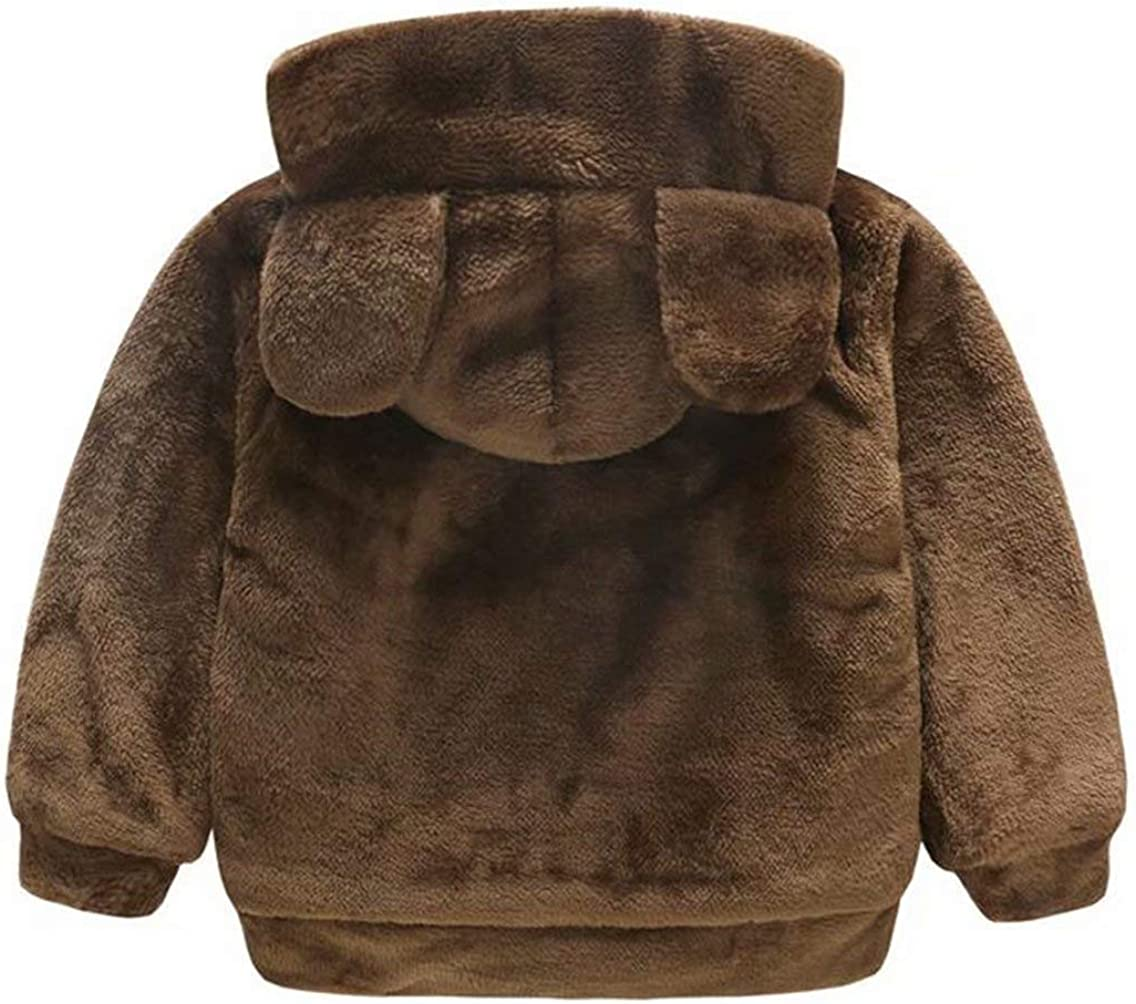 SUPEYA Toddler Baby Girls Winter Bear Ear Hooded Coat Cloak Jacket Thick Warm Outwear