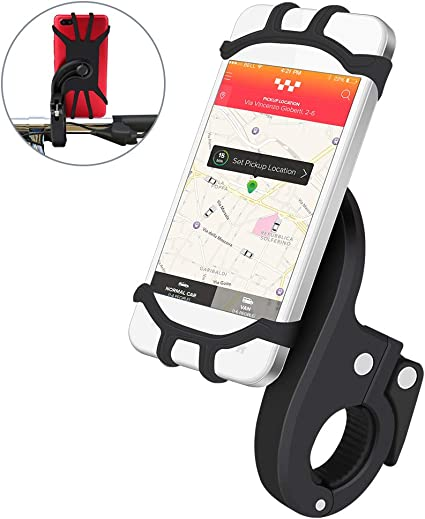 Anti-Shake GPS Telefonhalter Fahrrad Handyhalterung Universal Verstellbarer Handy Halterung Outdoor Fahrradhalterung Motorrad Fahrrad Lenker Mit 360 Drehen F/ür 3,5-6,5 Zoll Smartphone