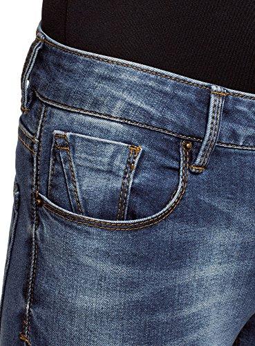 Femme Bleu Jean Moyenne Taille Skinny oodji 7500w Ultra 5qaxR
