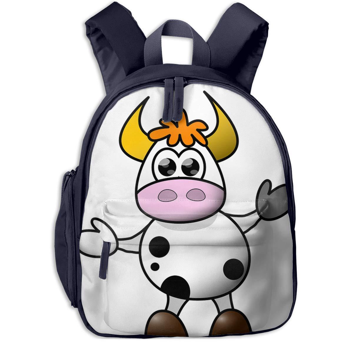 School School School Backpack for Girls Boys, Kids Cute Farbe Cow Cartoon Backpacks Book Bag B07MNS2D96 Daypacks Verrückter Preis 989d98
