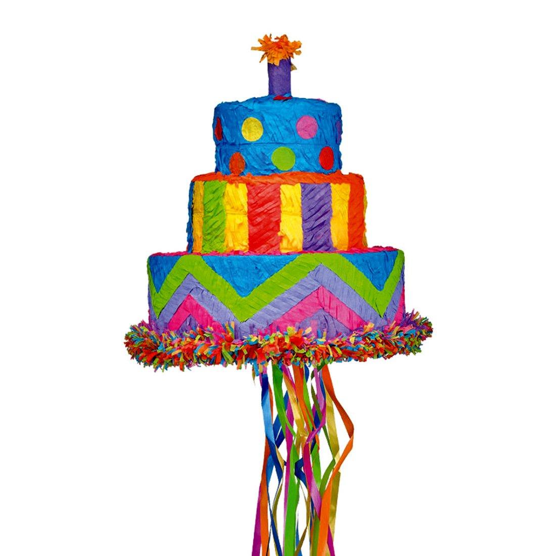 NET TOYS Piñata para Tirar | Piñata de Torta | Juego para ...
