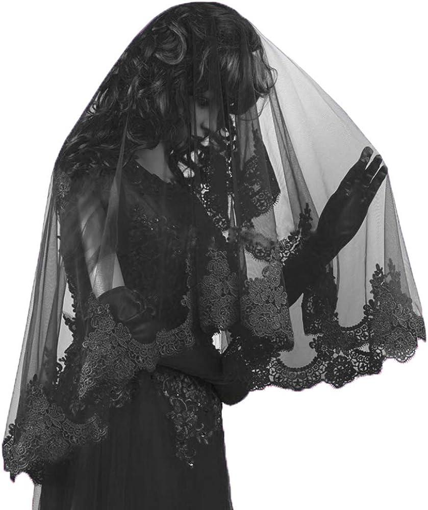 Wedding bride veil beautiful long veil with lace at edge waist length