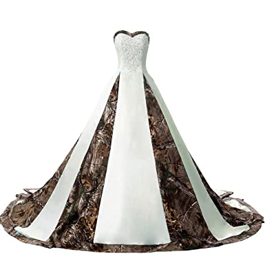 iLovewedding Designer Camouflage Ball Gown Wedding Party Bridal ...