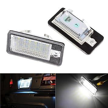LITTAU 2 x 18 LED Luz de matrícula Canbus Error para A6 C6 Q7 A4 B7 A4 B6 8E A3 S3 A8 S8 S6 RS4 RS6: Amazon.es: Coche y moto