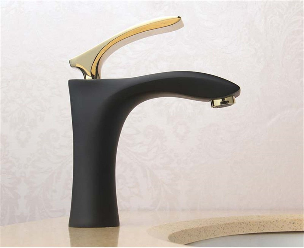 ETERNAL QUALITY Bathroom Sink Basin Tap Brass Mixer Tap Washroom Mixer Faucet Sit-in desk top basin, adjust the hot and cold water bathroom full copper rust Single Handle