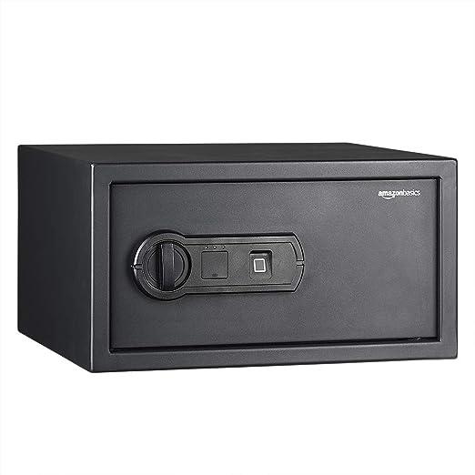 AmazonBasics - Caja fuerte con lector biométrico de huella dactilar - 20 l: Amazon.es: Bricolaje y herramientas