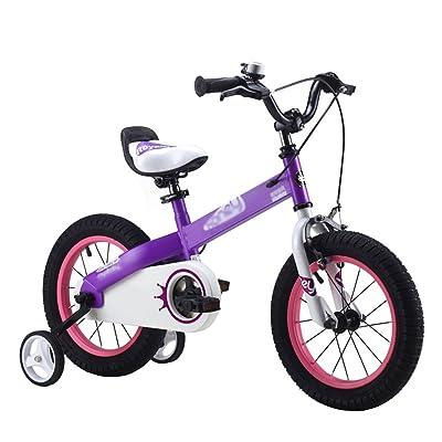 ZHIRONG Bicyclette Pour Enfants Bleu Violet Taille 12 Pouces, 14 Pouces, 16 Pouces, 18 Pouces Sortie Extérieure ( Couleur : Violet , taille : 12 inch )