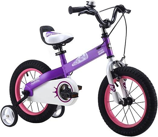 ZHIRONG Bicicleta Para Niños Azul Morado Tamaño 12 Pulgadas, 14 ...
