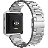Simpeak Fitbit Blaze Bracelet, Bracelet en Acier Inoxydable Remplacement Band Strap pour Fitbit Blaze Smart Fitness Watch - Argent