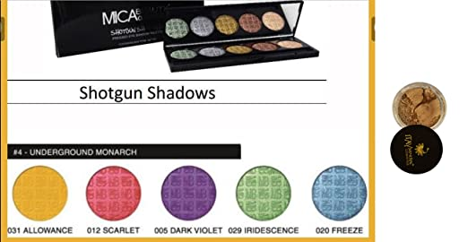 Amazon.com : Bundle 2 Items:Mica Beauty Mineral Pressed Eye Shadow Palette #4 Include Colors:#31Allowance, #12 Scarlet, #5Violet, #29, #20 Freeze + Itay ...