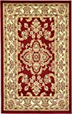 Unique Loom Voyage Collection Traditional Oriental Classic Red Area Rug (3′ x 5′)