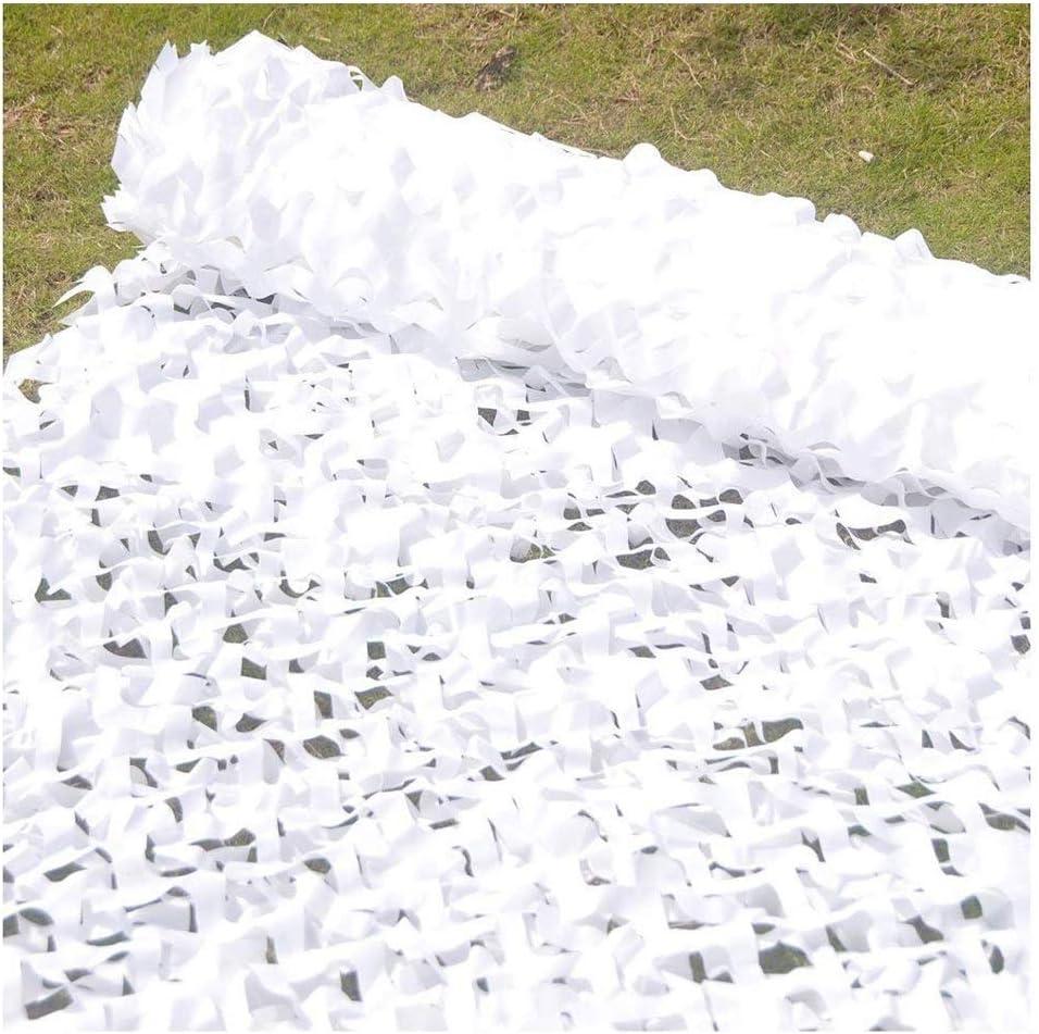 迷彩ネット、熱保護迷彩ネットバイザー防空迷彩ウッドランドキャンプ隠す、白 遮熱ネットYZJL828 (Size : 6.8X6.8M)