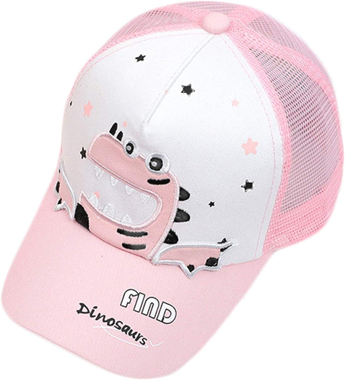 Cartoon Dinosaur Children Baseball Caps Kids Summer Sun Hats Boy Girl Net Beach Cap Summer Visor Hat Mesh