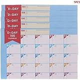 Fogun - Calendario de cuenta atrás para 100 días, 5 piezas ...