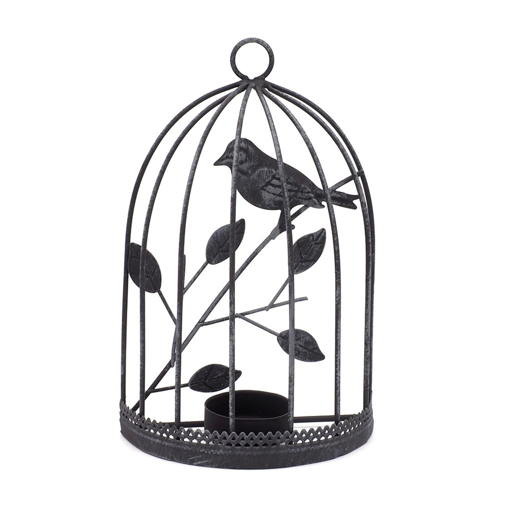 BecauseOf Metal Candlestick Tealight Birdcage Candle Holder Hanging Lantern