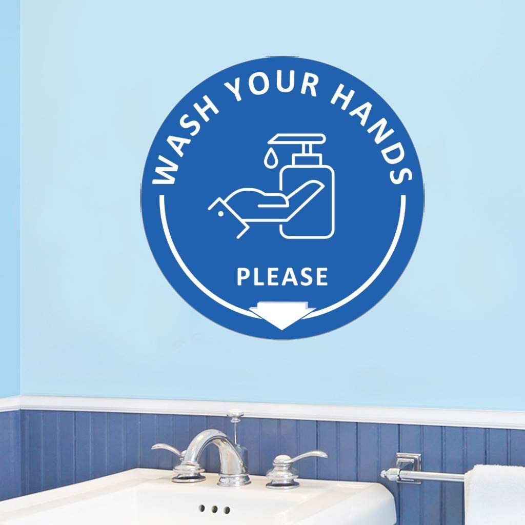 Pegatinas de suelo con flechas de una sola direcci/ón para lavar las manos