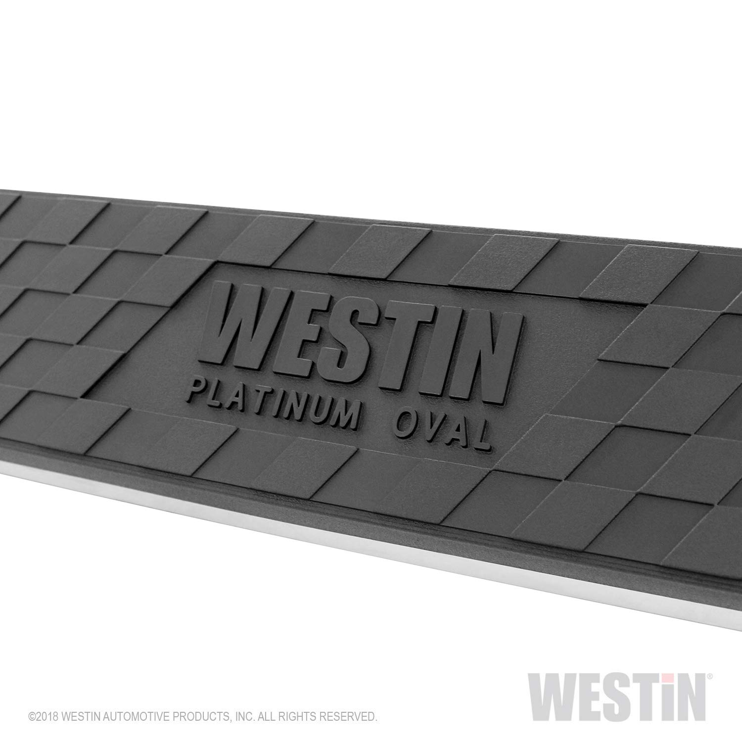 Westin 21-2775 Platinum Black Oval Step Bar