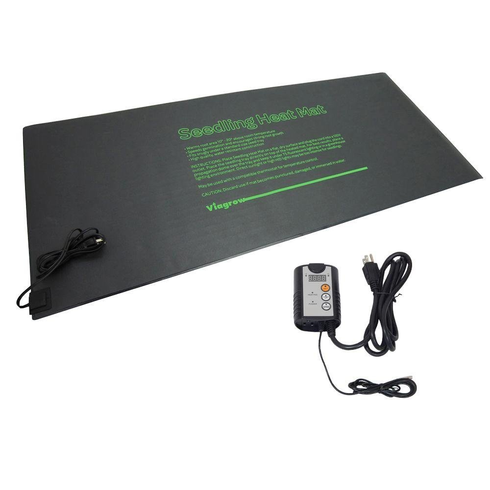 Viagrow Quad Tray Heat Mat with Thermostat, 48'' x 20.5''