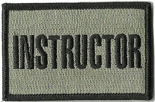 Instructor Tactical Patches - Silver/Black - 2