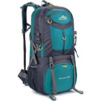 Hiking Backpack Nylon Waterproof Large Capacity Daypack for Outdoor Sports Travel Fishing Cycling Skiing Climbing Camping Mountaineering 60L (Lake Blue-60L)