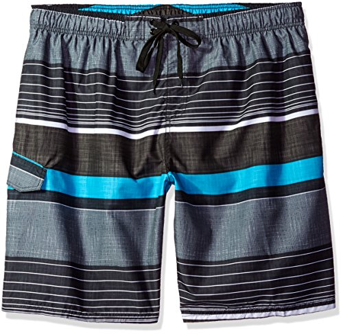 Kanu Surf Men's Barracuda Swim Trunks (Regular & Extended Sizes), Viper Black, 4X