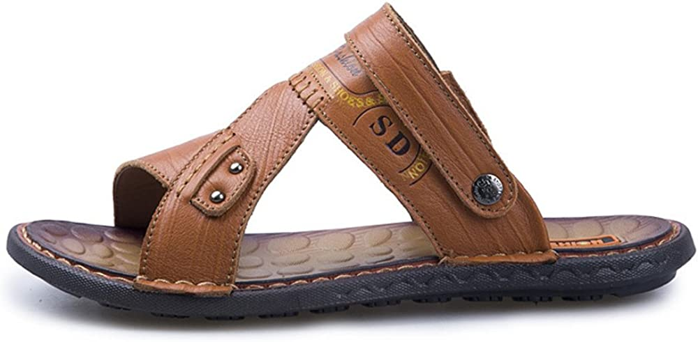 Comfortable and Wearable Fjhbljknkk Breathable Mens Outdoor Beach Sandals Non-Slip Soft Bottom Slippers Suitable for Outdoor Walks Soft