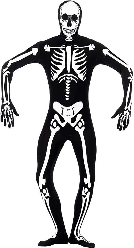 NET TOYS Disfraz de Hombre Esqueleto Brilla en la Oscuridad Traje ...