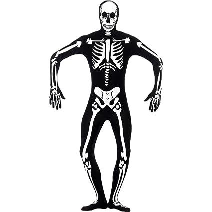 NET TOYS Disfraz de Hombre Esqueleto Brilla en la Oscuridad ...