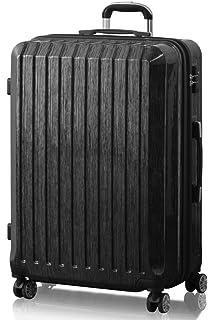97af818a92 FIELDOOR TSAロック搭載 スーツケース [STRAIGHT NEO] ダブルキャスター 鏡面ヘアライン仕上げ トラベル