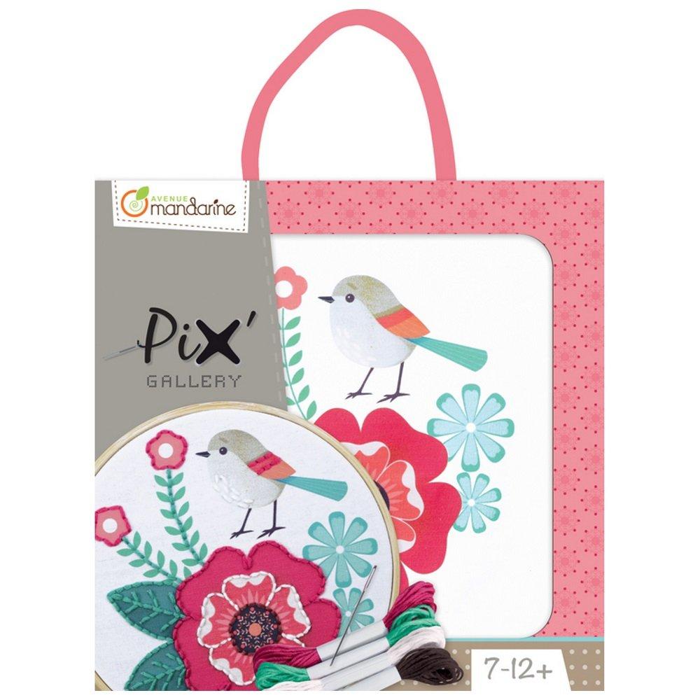 Rose et Oiseau Avenue Mandarine Kit dInitiation Broderie Enfant