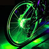 Cyborg LED Bike Wheel Hub Lights, Waterproof, Easy to Install, 3 Modes Cycling Bike Spoke Light and Rims Safety Warning Light. Magic Decoration Light Bicycle Accessories light