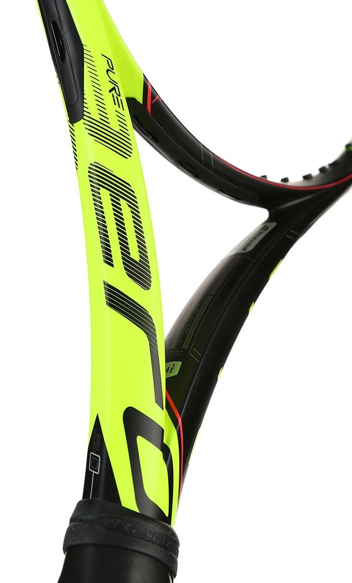 Amazon.com : Babolat Pure Aero Tour Yellow/Black Tennis Racquet Strung SG Spiraltek in Custom Racket String Colors (Rafael Nadals Racket) : Sports & ...